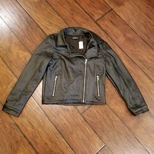 Kidpik black pleather jacket